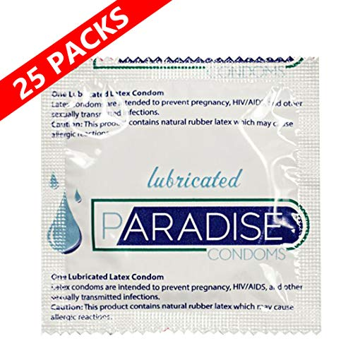 Paradise Lubricated Condom - Lubricated Latex Condom- (Pack of 25)
