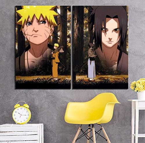 JXMK Imprimir póster Arte de la Pared decoración del hogar Lienzo animación Ninja Figura Pintura Imagen Modular decoración Moderna de la habitación