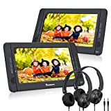 "NAVISKAUTO 10.1"" Dual Screen Portable DVD Player for Car, Headrest Video Player"