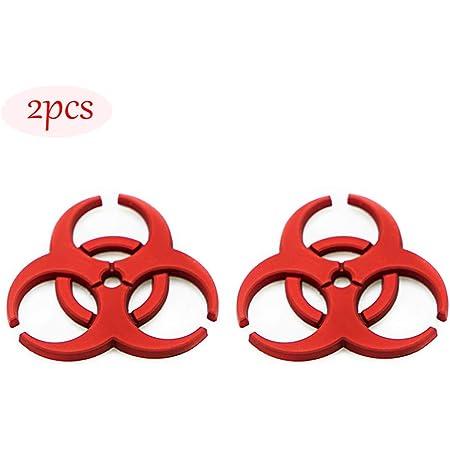 CARRUN 2X 3D Resident Evil metal badge car logo protection umbrella biochemical modification 3D emblem Car Motorcycle Decal Emblem (Red)