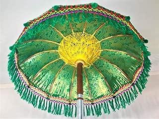 Green Fiesta Umbrella- Party Umbrella, Garden Umbrella, Wedding Umbrella, Hindu Umbrella, Indonesian Umbrella, Pool Umbrella, Bollywood