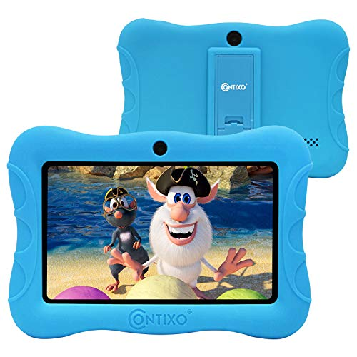 """Contixo 7"""" Kids Tablet V9-3 Learning Toy Android 9.0 Parental Control Tablets 2GB RAM 16GB Touchscreen HD Display WiFi Camera Education Apps on Google Certified Play Store Best Gift (Light Blue)"""