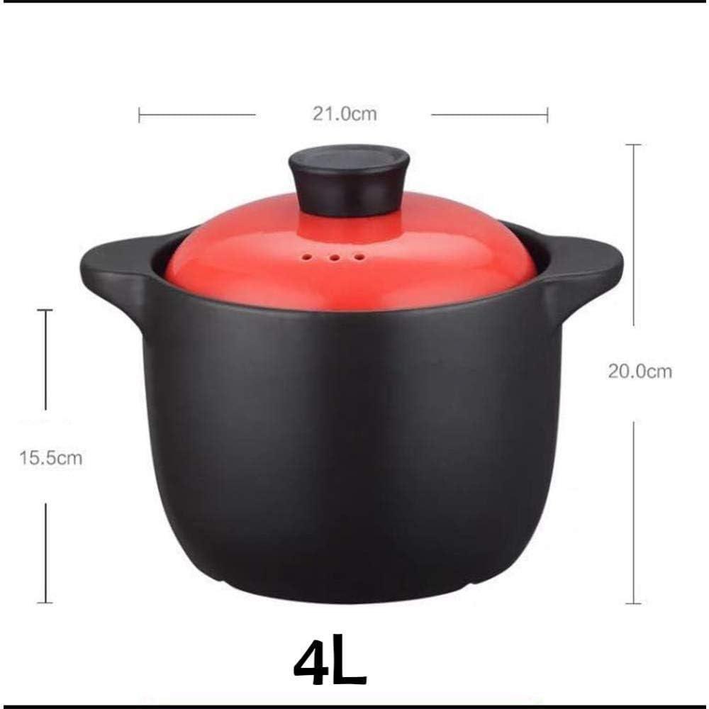 LIUSHI Pot en Terre Cuite Pot en Terre Cuite Pot en céramique Pot en céramique - avec céramique Pan-D antiadhésive Saine et Durable résistante à la Chaleur B