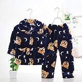 HYL0 Cartoon Boy S Mädchen Pyjamas Sets Plüsch Warm Kleinkind-Mädchen Nachtwäsche Kleidung-Baby-Hosen-Kind-Negligés Kleidung Homewear ZZBiao (Color : A4, Size : 4T)