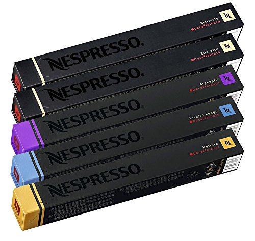 50 Nespresso Decaffeinated Capsules Mixed Variety