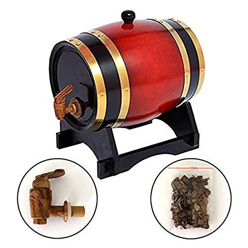 JFZCBXD Whiskey Barrel Dispenser ZuhauseBrew und Weinbereitung Whisky Lagerung Barrel Holzweinfass für Bier Whisky Rum Hafen Keg Lagerung,3L