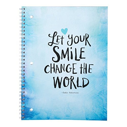 DaySpring Sadie Robertson's College Ruled Spiral Bound Notebook, Let Your Smile Change the World