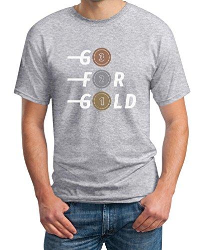 Go for Gold - Bronze, Silber, Gold Fanshirt Für Olympische Spiele T-Shirt XX-Large Grau