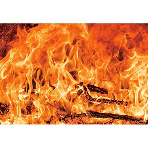 Yeele 1.5x1m Fotografie achtergrond Brandend vuur Brandhout Bakstenen open haard Flickering Flame Patroon 2 Achtergrond voor fotografie Thema-feest Event decoratie Kinderen Volwassenen Selfies Foto Props