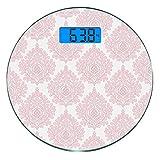 Escala digital de peso corporal de precisión Ronda Damasco Báscula de baño de...