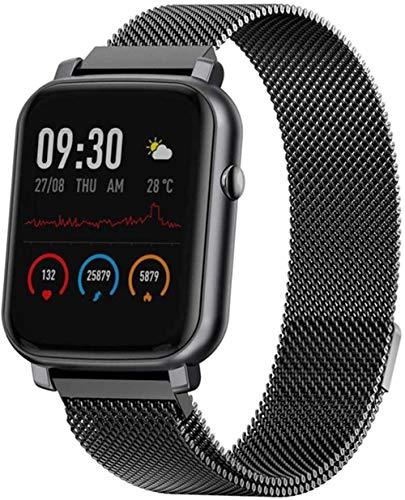 JIAJBG Smart Watch Android iOS Ip68 Waterproof Menstrual Reminder Multi Sports Fitness Tracker Low Power Smart Watch Men Women-Black Best Gift/Black