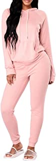 Women Casual Sweatsuit Pullover Hoodie Sweatpants Sport Outfits Jogger Set