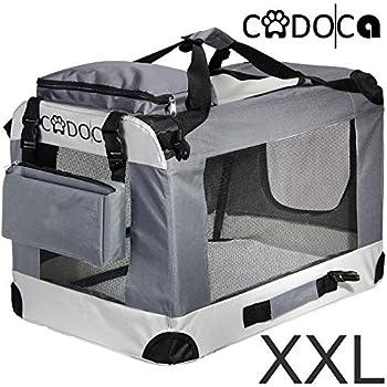 Deuba CADOCA - Cage de Transport pour Animaux domestiques • Gris/Noir • Pliable • Taille XXL - Sac de Transport Animaux Chien Chat Rongeur