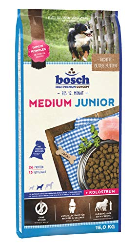 bosch HPC Medium Junior | Hundetrockenfutter zur Aufzucht mittelgroßer Rassen | 1 x 15 kg