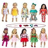 COSYOO Lindo Creativo Encantador Bowknot Doll Kit De Ropa Decorativo Adorable Moda Simple Miniatura Conjunto De Vestido De Muñeca De 18 Pulgadas