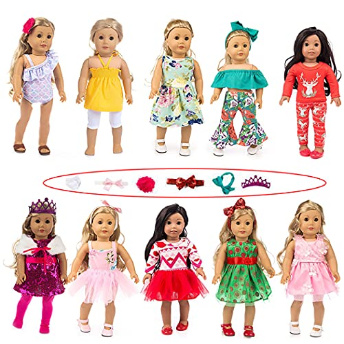 COSYOO Cute Creative Lovely Bowknot Doll Clothing Kit Decorative Adorable Fashion Simple Miniature 18in Doll Dress Set