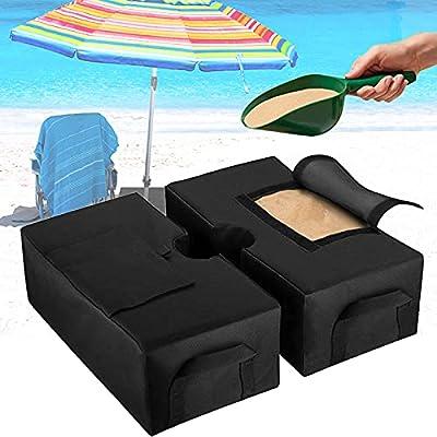 Broadsheet Detachable Outdoor Umbrella Base Weight Bag, Heavy Duty Fillable Parasol Base Patio Umbrella Pole Holder Weatherproof Umbrella Base Weight Bag for Outdoor, Lawn, Garden (18 inch)