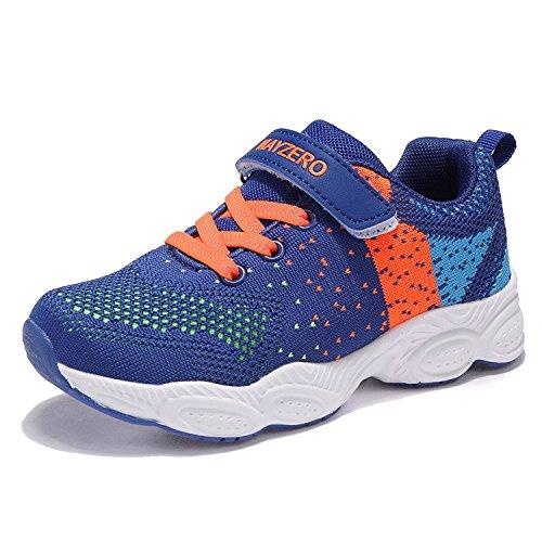 MAYZERO Unisex-Kinder Sneakers Laufen Schuhe Sportschuhe Sneakers Jungen M?dchen Low-Top Sneakers, Blau, 31 EU
