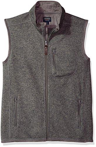 Smith's Workwear Men's Full Zip Sweater Fleece Vest, Heather Grey, Large