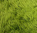 Faux/Fake Fur Mongolian Olive Green Fabric by The Yard