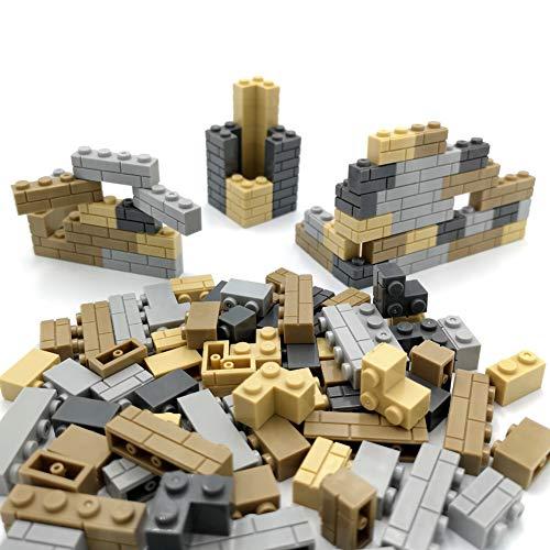 DIY Block Wall Brick Block City Building Brick Parts and Pieces Compatible with Major Brands Blocks Kid Creative Toys Gifts 120 PCS Multi Color