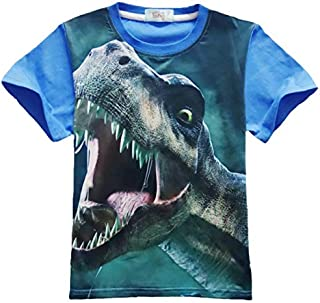 T-Shirts - Children Short Sleeve T-shirt Jurassic Dinosaur Clothes Baby Girls Boys Dinosaur T Shirts Kids Top Tees Child C...
