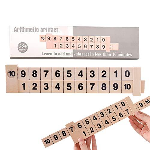 Oulian Holz Mathe Spiel Holz Mathe Arithmetik 1-10 Zusätzlich Subtrahieren Lernen Lineal Wissenschaftliche Schiene Design Lineal Kinder Bildung Spielzeug Kinder Geschenke