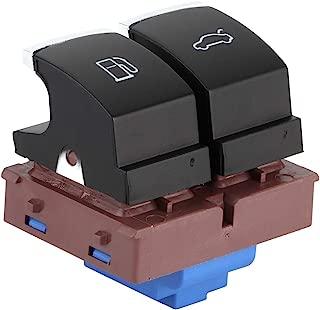 Aramox Fuel Gas Tank Switch,Car Chrome Fuel Gas Tank Door & Trunk Release Button Switch For Jetta MK5 MK6 Golf MK5 MK6