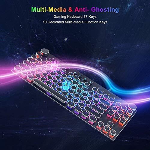 STOGA Mechanical Keyboard, Anti Ghosting Computer Keyboard, USB 2.0 Wired Retro Gaming Keyboard