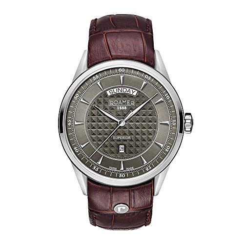 Roamer Reloj Analógico para Hombre de Cuarzo con Correa en Cuero 508293 41 05