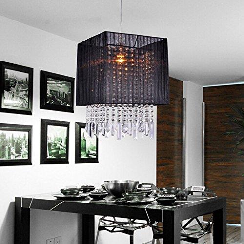 $éclairage Lustre en cristal - lumières de couloir, lumières d'entrée, lumières de hall, lumières de balcon, plafonniers, lustre en cristal brossé personnalisé noir lumières intérieures