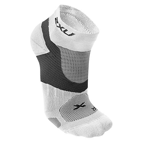 2XU Damen Long Range VECTR Socken, Damen, weiß/weiß, Medium