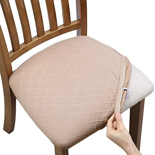 Fuloon Stuhlbezug elastisch Spandex Jacquard Esszimmerstuhl Sitzbezüge, herausnehmbarer waschbarer Sitzabdeckung Stretch Schutzhülle Protector Cover für Esszimmer & Büro