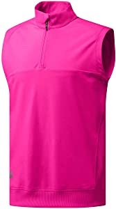adidas Classic Club 1/4 Zip Golf Vest Real Magenta X-Large