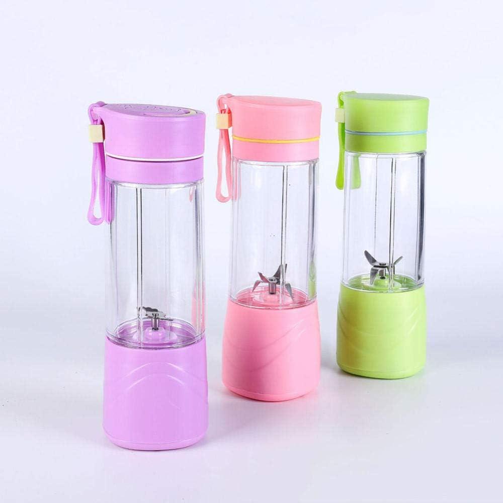 B/H Mezclador de Frutas de tamaño,Exprimidor eléctrico Mini Taza de Jugo portátil-Rojo 2 Piezas Purple 2pcs