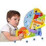 Arkmiido Circuito Canicas ,Juguetes de Madera Montessori,Juguetes para Niños Juego Pista de Canicas Marble Run Juego de Educación