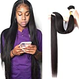 10A Straight Human Hair Bundle 100% Virgin Brazilian Hair 1 Single Bundle 32 Inch Straight Weave Hair Human Bundle Natural Color Unprocessed Remy Hair Bundle(32 inch)