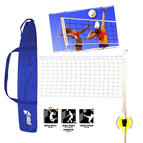 Sport One MultiSport PRO Rete Beach Volley Beach Tennis Badminton Tennis Soccer - NEW