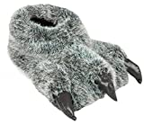 Pantuflas divertidas para hombre, con diseño de garra, animal, oso, ideal para regalo, color Gris, talla 45/46 EU