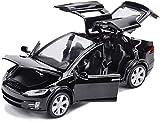 WASHULI 01:32 Escala Coches Tesla Roadster aleación Diecast Modelo de Coche w/Sound & Light Tire del Modelo del Coche de Juguete Coches Niños Juguetes Colección 15.5x5.5x4.5cm (Color : Black)