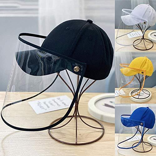 DUANJ Schutzhut mit Schild für Kinder,staubdichte Anti-Spitting-Vollmaske Maske Baseball Cap Kids Outdoor Safe Hat