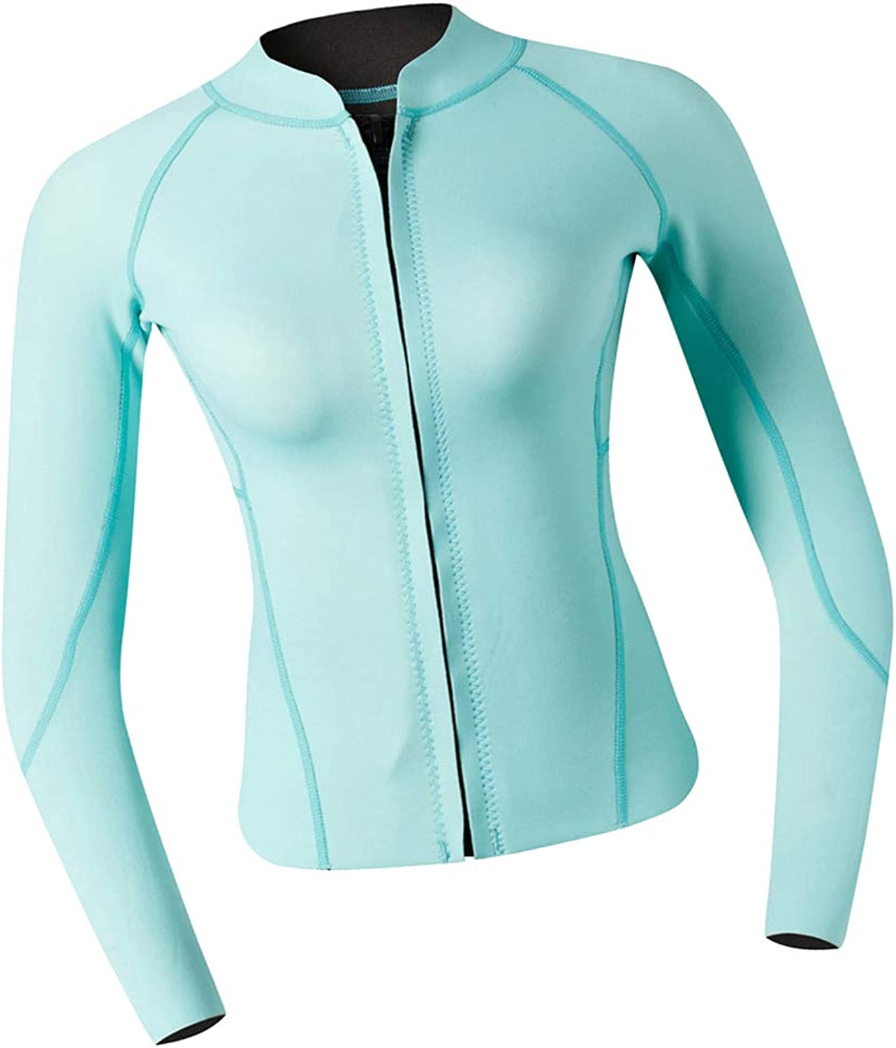 DYNWAVE Women Top Wetsuits Neoprene 2mm Water Sports Jackets Diving Suit for Diving, Snorkeling & Swimming Cyan