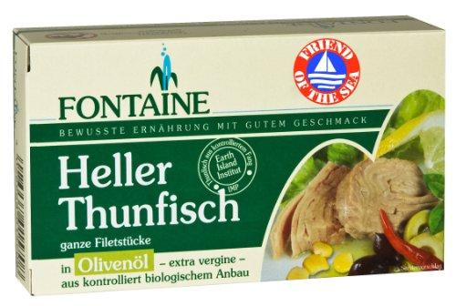 Fontaine Heller Thunfisch in Bio-Olivenöl 120g Fischkonserve, 10er Pack (10 x 120 g)