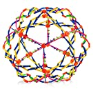 4E's Novelty Expandable Ball Fidget Toy, Great Expanding Sphere Toy for Kids, Hand Catch Breathing Flower Balls, Pack of 1 Colors May Vary, for Stress Relief and Anxiety