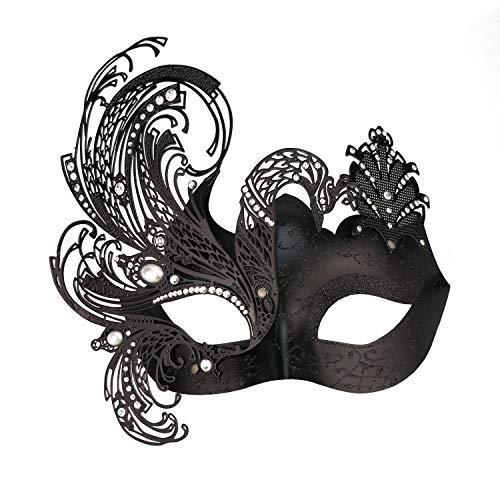 Coddsmz Mystérieux Papillon vénitien Brillant Papillon Lady Masquerade Halloween Mardi Gras Party Mask