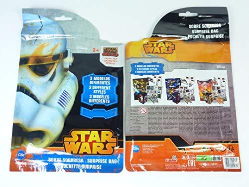 wuselwelt 040616, 2 Wundertüten Star Wars, super Überraschungstüte, toll für den Kindergeburtstag, Mitgebsel, Mitbringsel