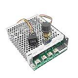 DollaTek 10V-55V 12V 24V 36V 40A DC Controlador de Velocidad del Motor Interruptor de Perilla Ajustable hacia atrás hacia atrás Plus Controlador de Control con Pantalla Digital