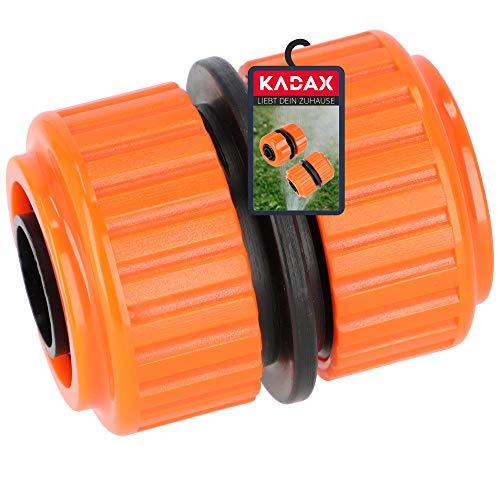 KADAX Reparator für Gartenschlauch aus Kunststoff ABS, Steckverbinder, Schnellkupplung, Schlauchverbinder, Gartenkupplung, Schlauchkupplung (3/4 Zoll)