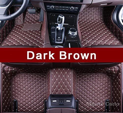 LUOLONG Car Floor Mats,Customized Car Floor Mats for BMW 3 5 6 7 Series E90 F30 E60 E61 F10 F11 F07 G30 E63 F12 F13 E65 F01 F01 G11 G12 Carpet Liners,Dark Brown