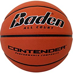 CONTENDER - Whether you're hooping in the gym or on the blacktop this indoor/outdoor basketball has the toughness you expect out of a street ball with the soft touch of an indoor gamer DESIGN - This ball comes with Baden's Performance Composite Cover...